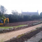 Land is levelled and tracked ready for implementation of wild flower garden.